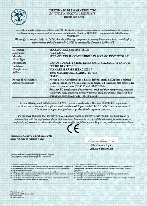 certificazioni RINA